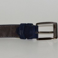 Curea piele naturala intoarsa Bleumarin (latime 3 cm) - Made in Romania C14