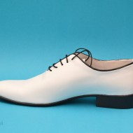Pantofi albi barbati piele naturala casual-eleganti cod P65ALBN - Editie de LUX