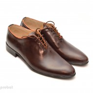 Pantofi barbati piele naturala maro casual-eleganti cod P65M - Editie de LUX
