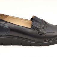 Pantofi dama casual-eleganti din piele naturala cu elastic cod P49