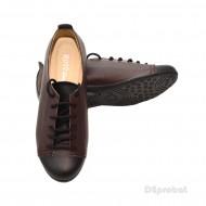 Pantofi dama din piele naturala cu talpa joasa cod P67