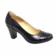 Pantofi dama eleganti negri din piele naturala cod P124