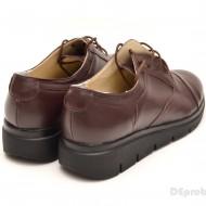 Pantofi dama maro casual-eleganti din piele naturala cod P47M
