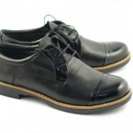 Pantofi dama negri casual-eleganti din piele naturala cod P75NLB Natasha