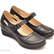 Pantofi dama piele naturala bleumarin cu platforma cod P57 - LICHIDARE STOC 38