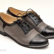 Pantofi dama piele naturala cu siret cod P50G - LICHIDARE STOC 39