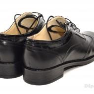 Pantofi dama piele naturala negri cu siret cod P21N - Made in Romania