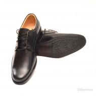 Pantofi negri barbati piele naturala casual-eleganti cu siret cod P70