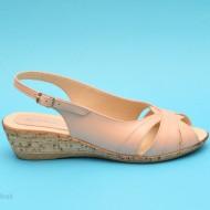 Sandale dama casual - elegante bej din piele naturala cod S18