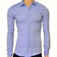 Camasa Slim Fit Albastra eleganta - Camasa albastra marime mare ZR80 (Marimi XL-5XL)