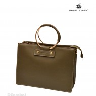 Geanta eleganta originala David Jones de dama 5635-1KHAKI