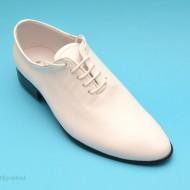 Pantofi albi barbati piele naturala casual-eleganti cod P65ALB - Editie de LUX