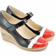 Pantofi dama eleganti - casual lacuiti din piele naturala cod P145