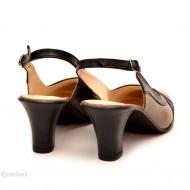 Pantofi dama eleganti din piele naturala cu toc de 7 cm cod P114