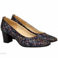 Pantofi dama eleganti din piele naturala multicolori cod P338