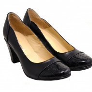 Pantofi dama eleganti negri din piele naturala cod P124 - LICHIDARE STOC 38