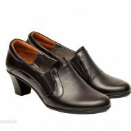 Pantofi dama eleganti negri din piele naturala cod P137 - LICHIDARE STOC 38