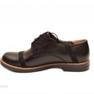 Pantofi dama negri casual-eleganti din piele naturala cod P75NB Natasha