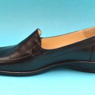 Pantofi dama piele naturala negri cu elastic cod P55 - Made in Romania