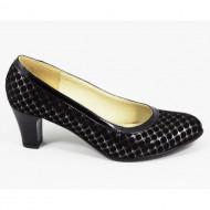 Pantofi eleganti dama negri din piele naturala cod P320