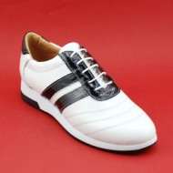 Pantofi sport dama piele naturala alb cu negru cod P86 - Made in Romania