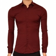 Camasa Slim Fit Bordoux eleganta - Camasa bordeaux ZR77