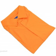 Camasa Slim Fit orange casual-eleganta cu nasturi ascunsi - Camasa orange barbati ZR75