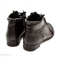 Ghete dama piele naturala Negre casual-elegante cod G14N - Made in Romania