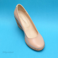 Pantofi bej dama eleganti - casual din piele naturala cod P162BEJ