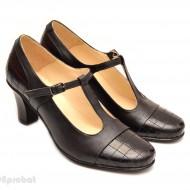 Pantofi dama din piele naturala negri cod P58 - Made in Romania