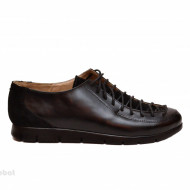 Pantofi dama negri casual-eleganti din piele naturala cod P164N