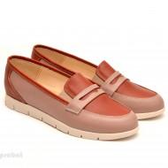 Pantofi dama sport-casual din piele naturala cu elastic cod P100