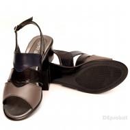 Sandale dama din piele naturala toc 5 cm cod S49