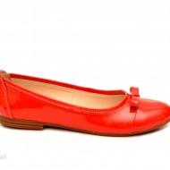 Balerini dama rosii lacuiti din piele naturala cod B23