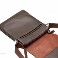 Geanta unisex piele Casual Office (Maro) - 24 x 21 cm - Borseta unisex pentru tableta
