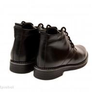 Ghete barbati piele naturala Negre casual-elegante cu siret cod G31N