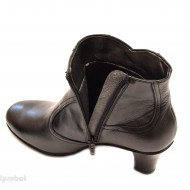 Ghete dama casual-elegante negre din piele naturala cod G19