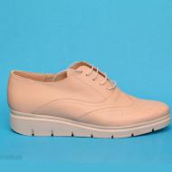 Pantofi dama bej casual-eleganti din piele naturala cod P190