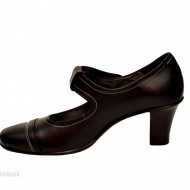 Pantofi dama eleganti - casual negri din piele naturala cod P33N