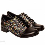 Pantofi dama lucrati manual din piele naturala cod P194
