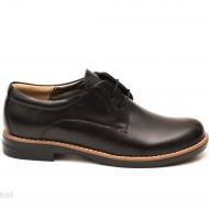 Pantofi dama negri casual-eleganti din piele naturala cod P75N Natasha