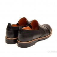 Pantofi dama negri casual-eleganti din piele naturala cu elastic cod P104
