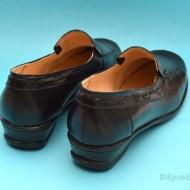 Pantofi dama piele naturala negri cu elastic cod P56 - Made in Romania