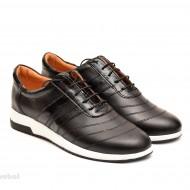 Pantofi sport negri dama piele naturala cod P80 - Made in Romania