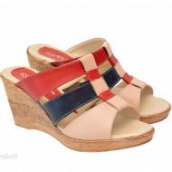Papuci dama din piele naturala cu platforma cod PP15