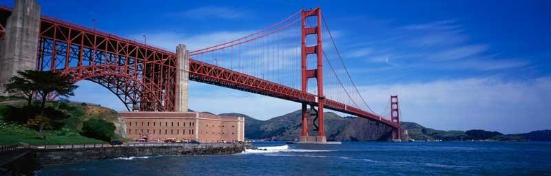 Tablou Multicanvas Podul Golden Gate