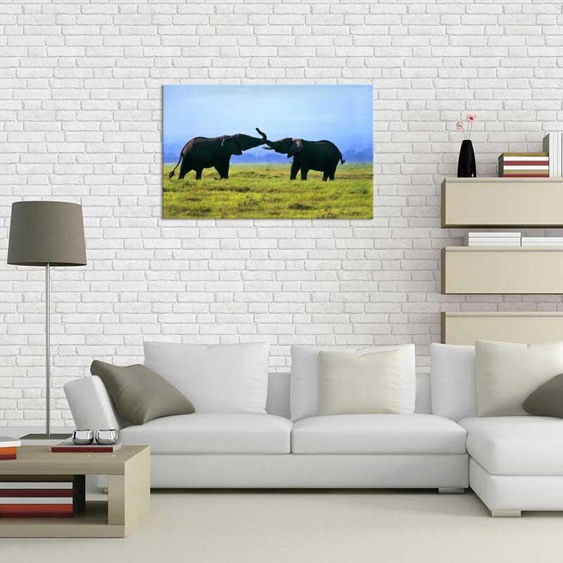 Tablou Elefanti pe Camp