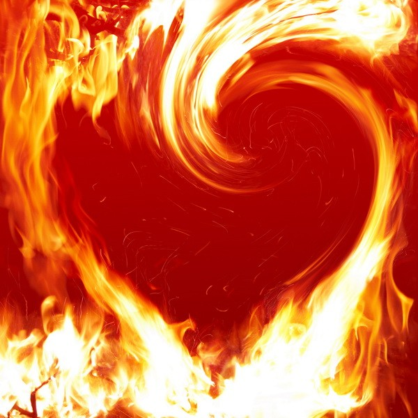 Tablou inima in flacari Valentine's Day