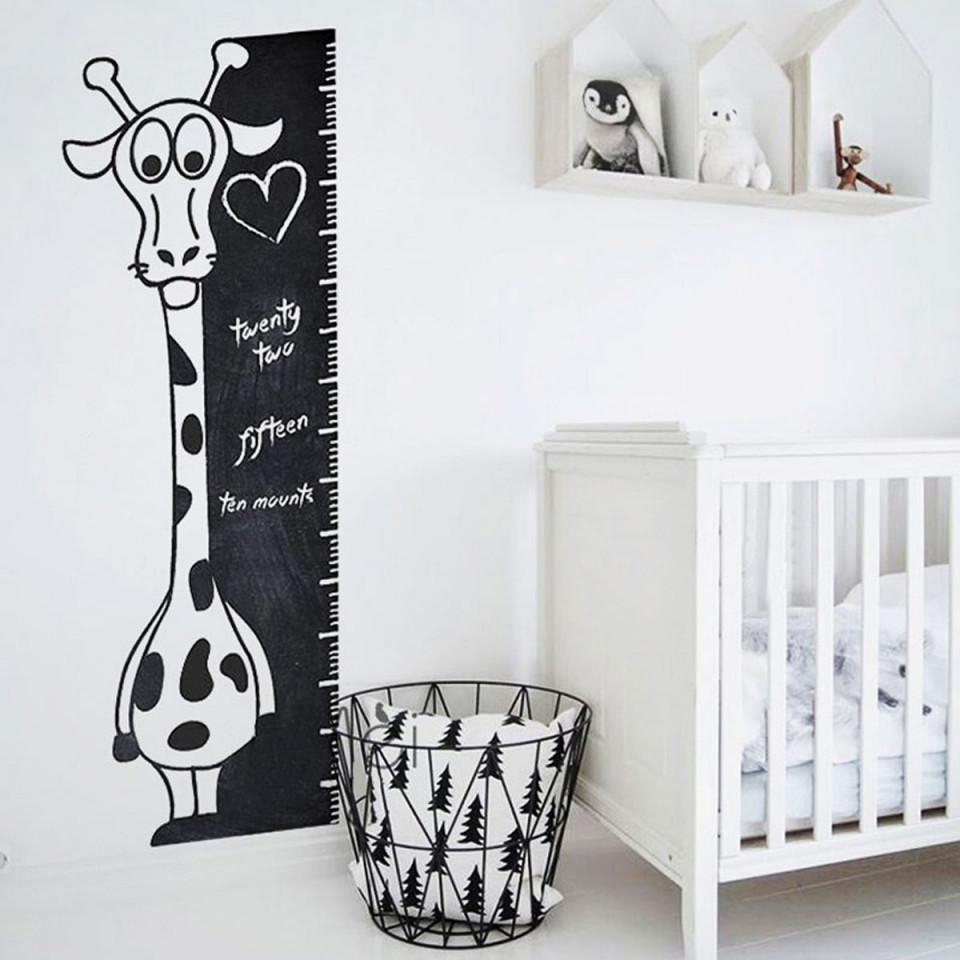 Autocolant Tabla de Scris cu Creta - model Girafa