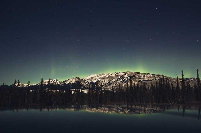 Tablou Munte Noaptea